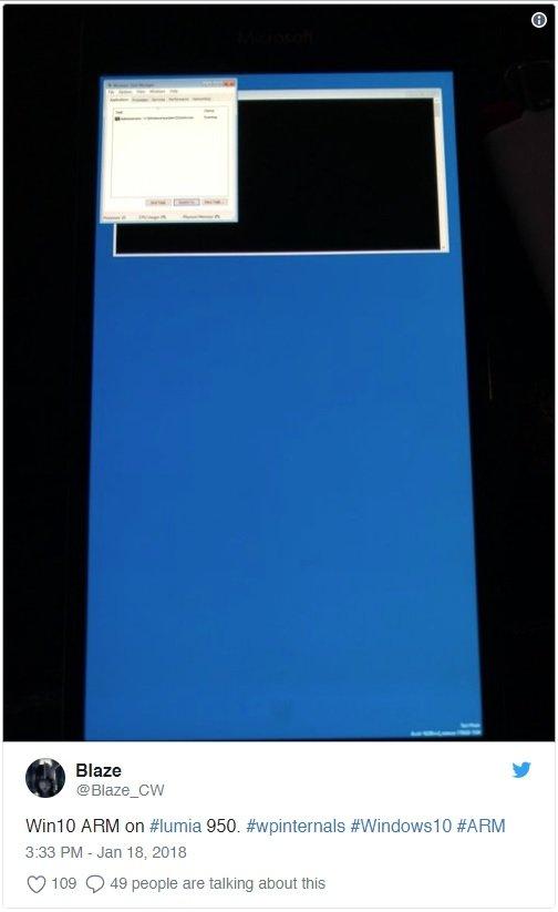 ARM'li Lumia 950'ye Windows 10 Yüklendi