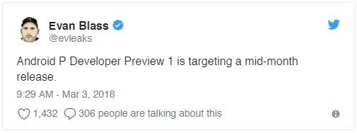 Android P'den Heyecanlandıran Haber