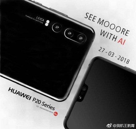 Huawei P20'dan Yeni Çizimler Sızdı!