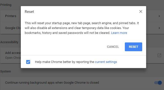Chrome Nasıl Sıfırlanır?