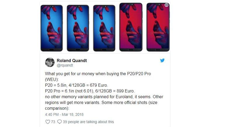 Huawei P20 Kaç GB ile Gelecek, Fiyatı Ne Olacak?