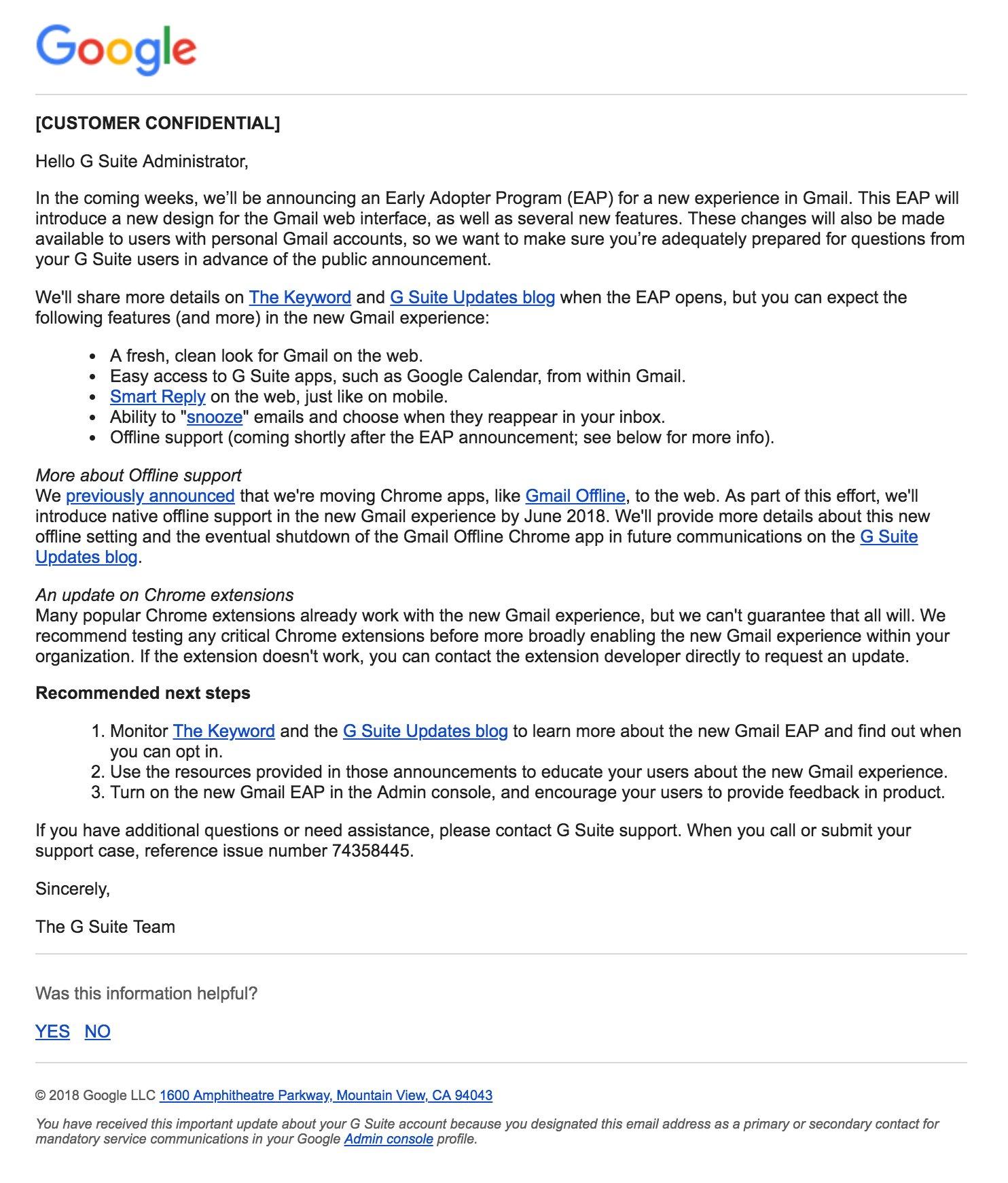 Google, Sonunda Gmail'i Yeniliyor!