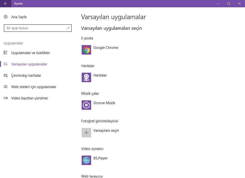 Windows'ta Dosya İlişkilendirmelerini Düzenleyin