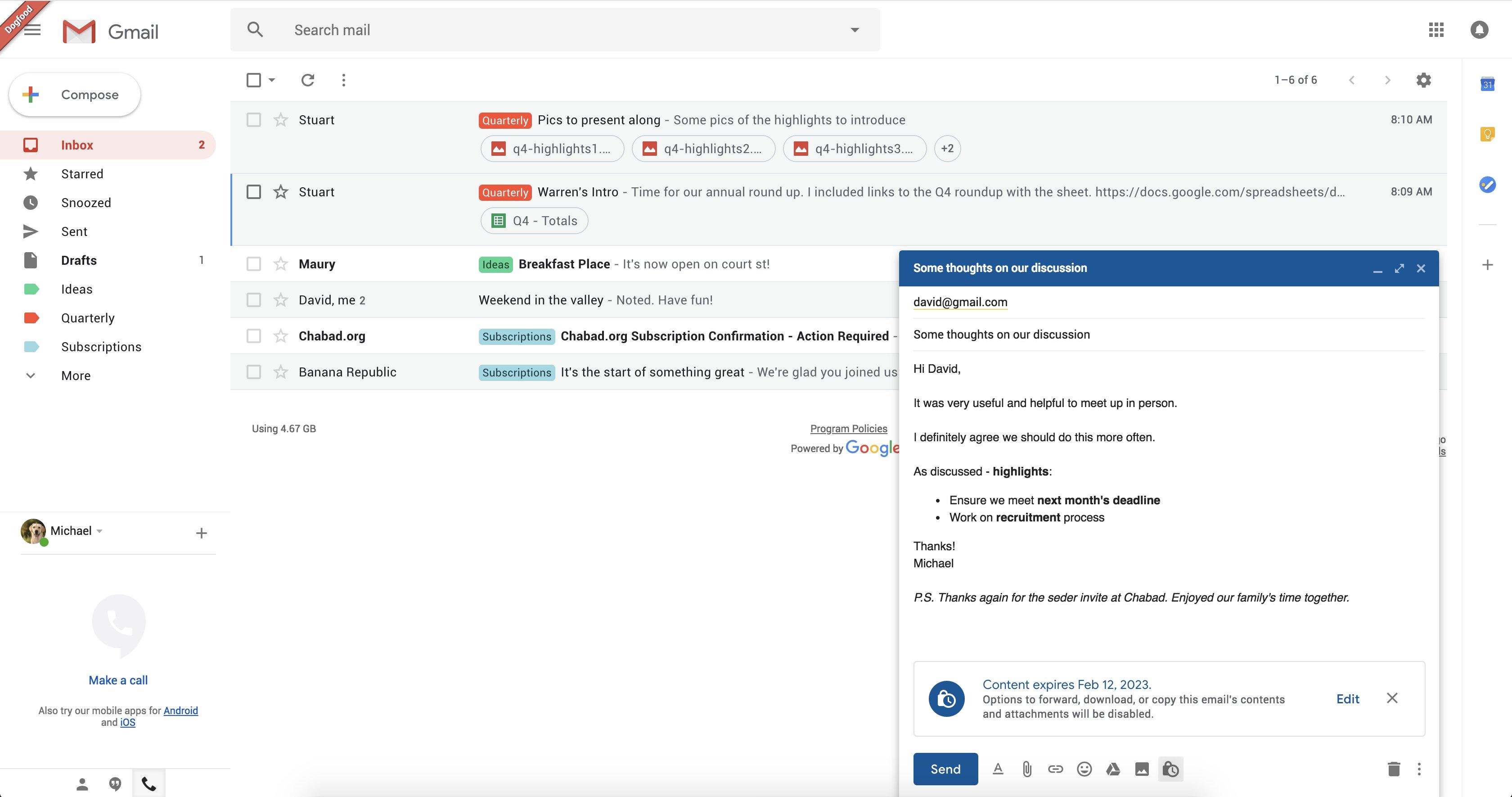 "Gmail'e ""Gizli Mod"" Geliyor!"