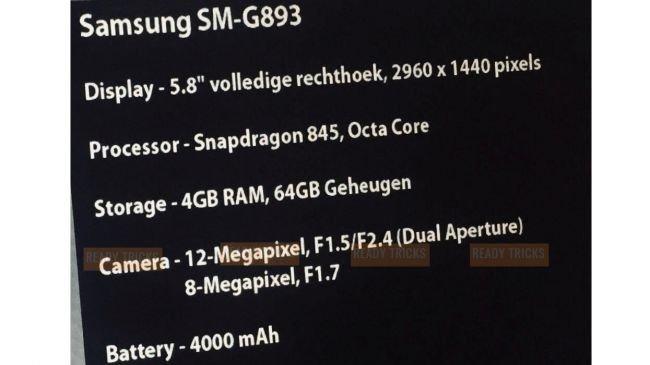 Samsung Galaxy S9 Active özellikleri sızdı