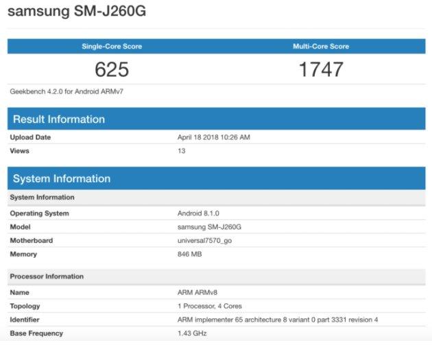 Android Go'lu ilk Samsung Telefon Görüldü