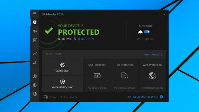 2. BitDefender Antivirus Plus 2018
