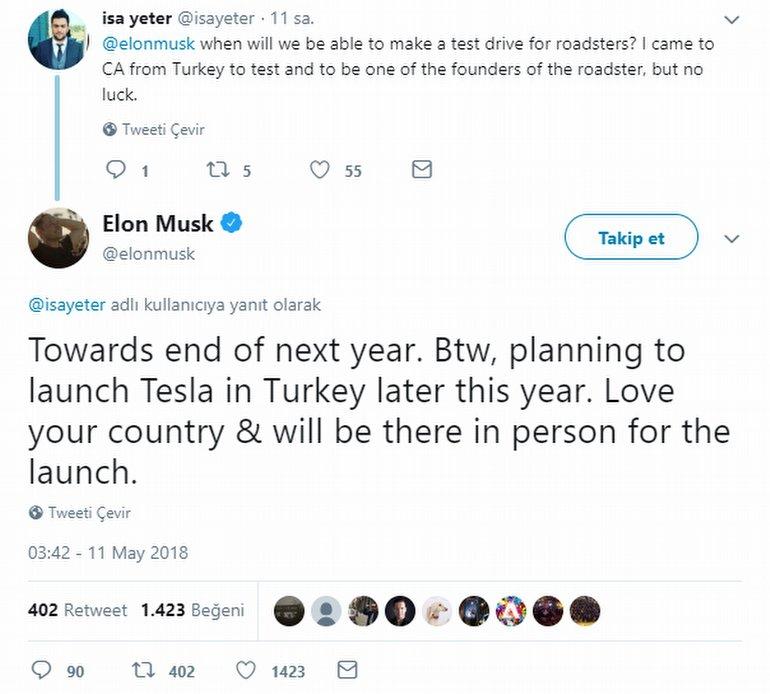 Tesla, Türkiye'ye Gelecek mi? Musk Cevapladı!