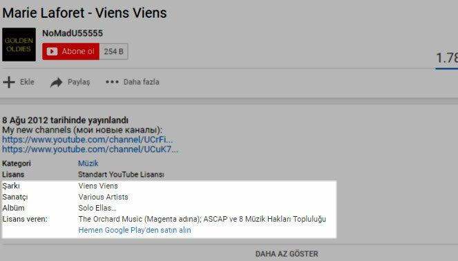 YouTube'ta Çalan Müziği Bulmak Artık Kolay