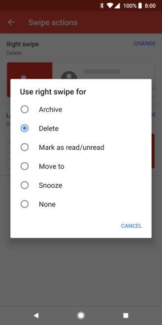 Gmail'de Posta Kaydırmayı Kişiselleştirin
