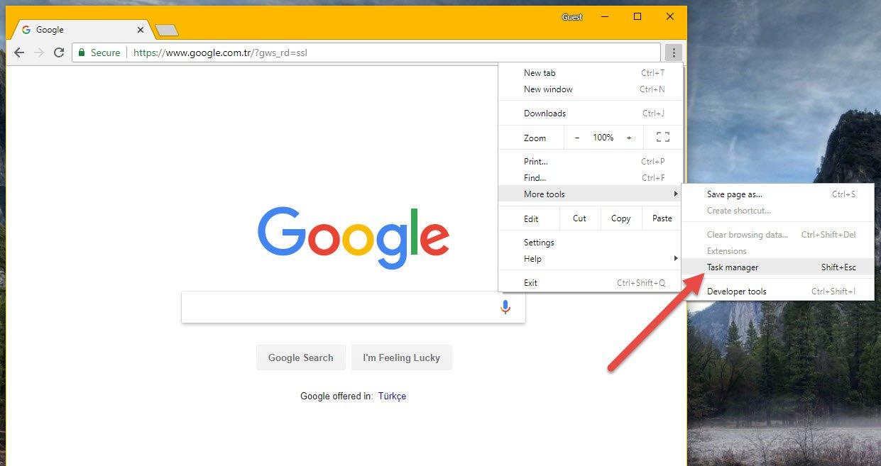 Chrome'un RAM ve İşlemci Tüketimini Yönetin!