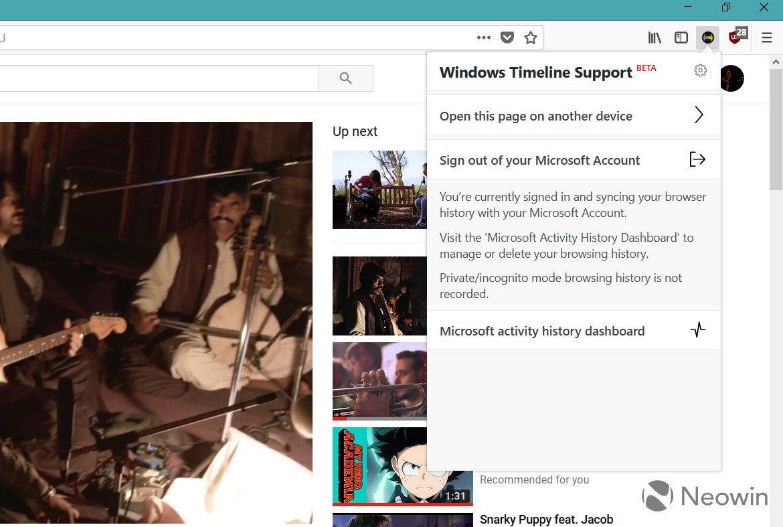 Timeline'ı Chrome'a ve Firefox'a getirin!