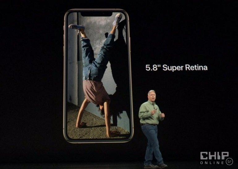 Tasarım iPhone X'ten farklı değil