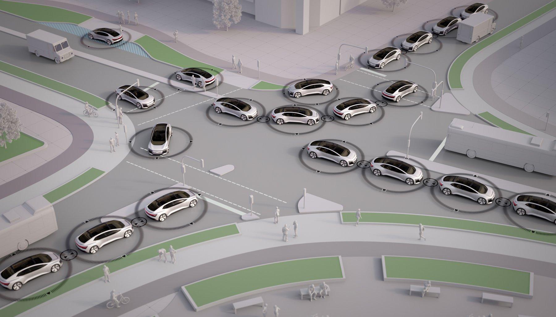 Audi geleceğin trafiğini inceledi...