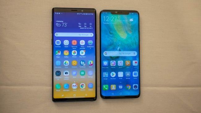 Ekran: Huawei Mate 20 Pro ve Samsung Galaxy Note 9