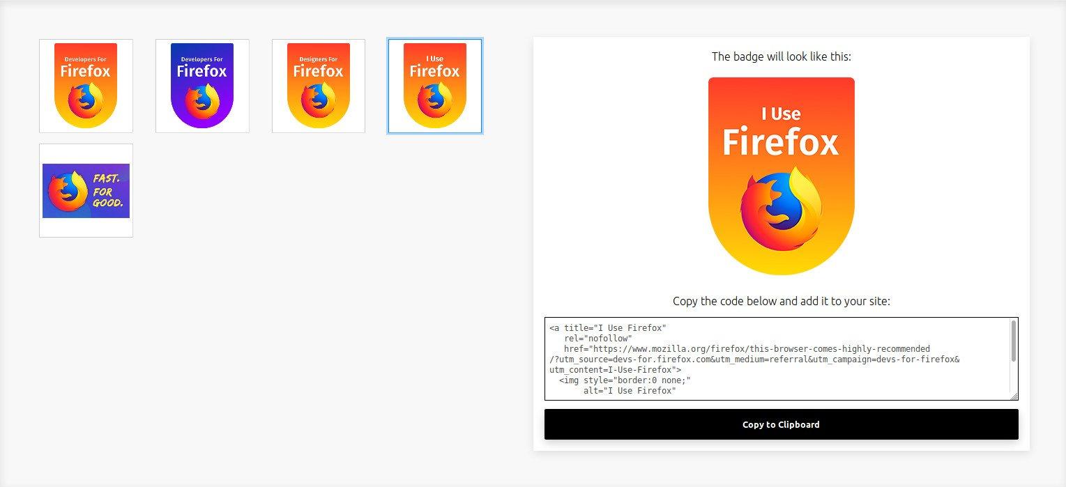 Mozilla'dan Web Siteleri İçin Firefox Rozetleri
