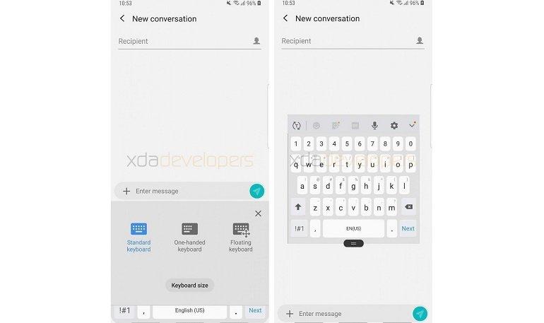 Samsung, Andorid Pie'da Klavyeyi Güncelliyor