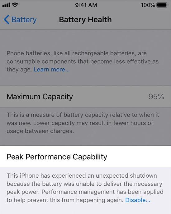 iPhone X ve iPhone 8'e Yavaşlatma İşlevi