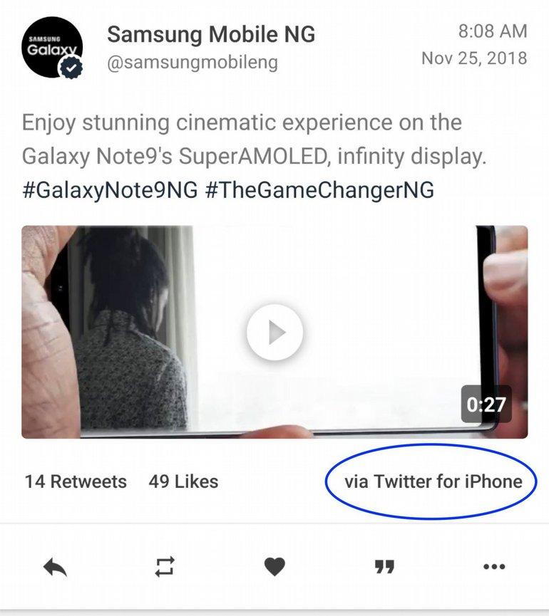 Samsung, Tweet Atacağı Cihazları Karıştırdı!