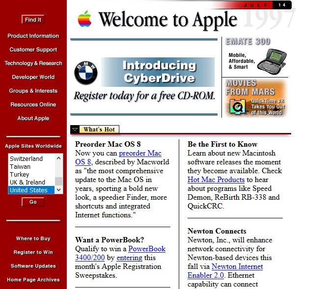 9 Web Sitesi, Yıllar Önce Böyle Görünüyordu