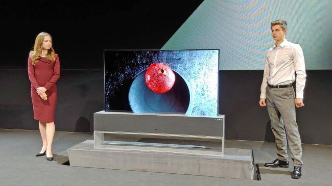 1. LG Signature Series OLED TV R (65R9)