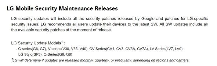 LG, G5 ve V20 Desteğini Kesiyor!
