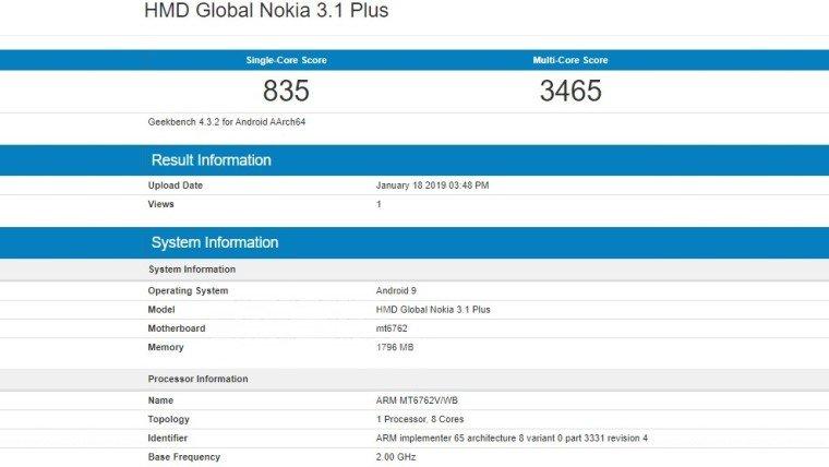 Nokia 3.1 Plus'a Android 9.0 Pie Müjdesi!