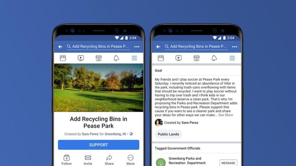 Facebook İmza Kampanyası Özelliğini Deniyor