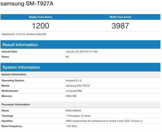 Galaxy View 2 Benchmark Puanı Ortaya Çıktı!
