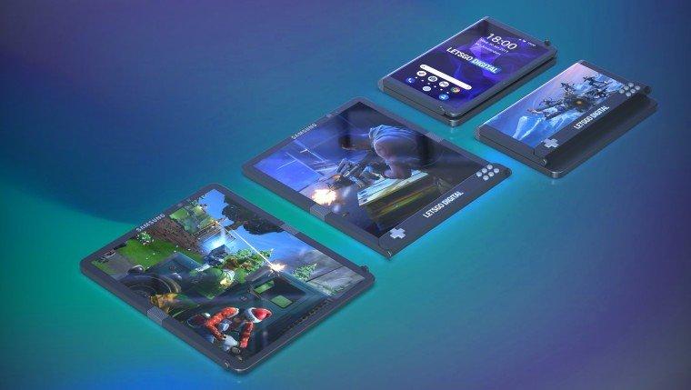 Samsung'un Katlanabilir Oyun Telefonu Göründü