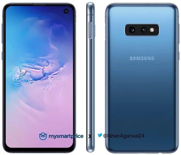 Mavi Galaxy S10 ve S10e Çizimleri Göründü