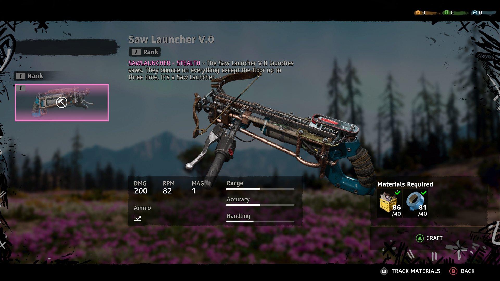 Silahlar ve yeni crafting sistemi