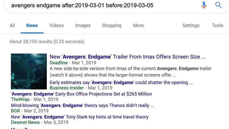 Google Arama'ya Yeni Tarih Filtresi Seçeneği