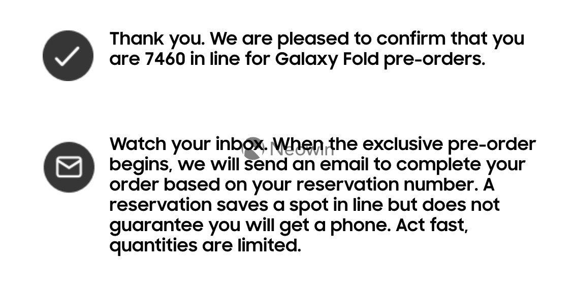 Galaxy Fold'un Rezervasyonları Durduruldu