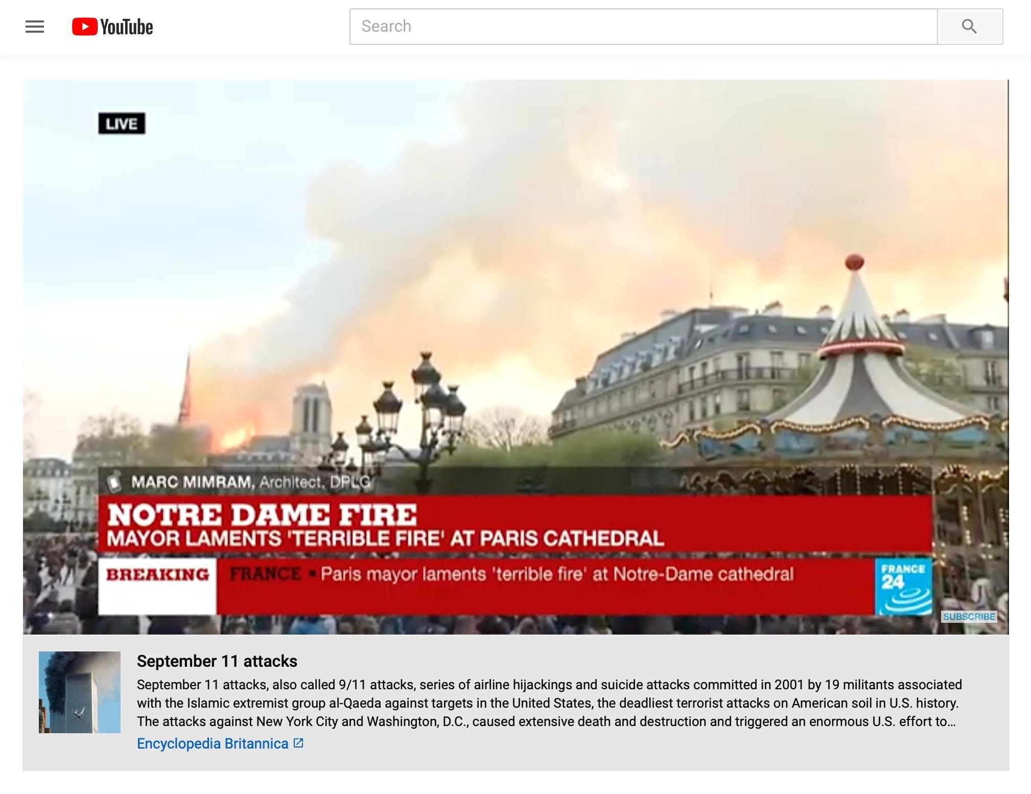 Notre Dame Yangını Videolarında YouTube Gafı!