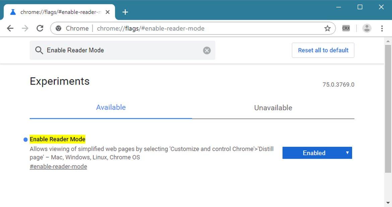 Chrome Canary Yapılarına Okuma Modu Geldi