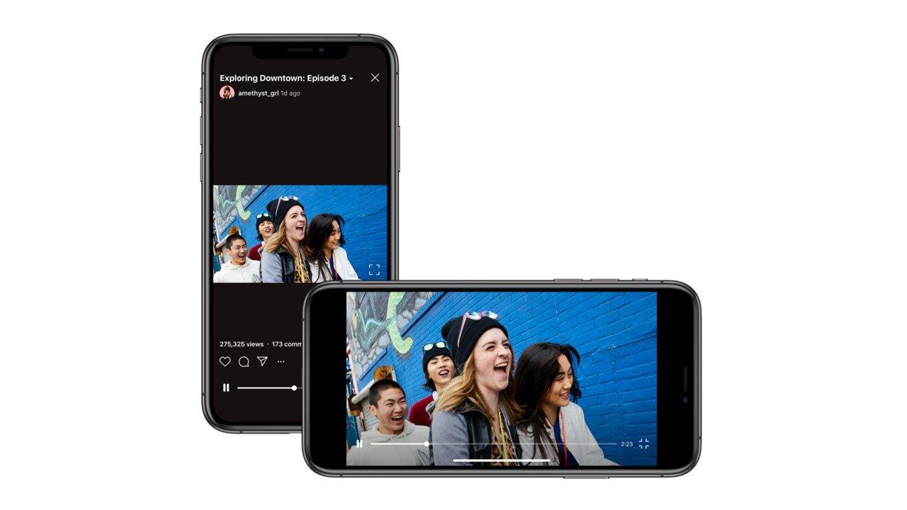 Instagram'dan IGTV'ye Yatay Video Desteği