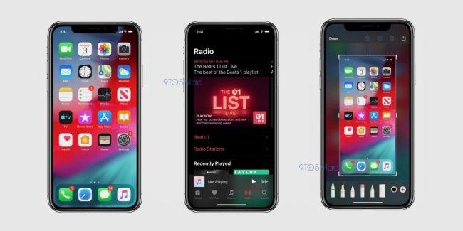 iOS 13'ün Koyu Modu Böyle Görünüyor