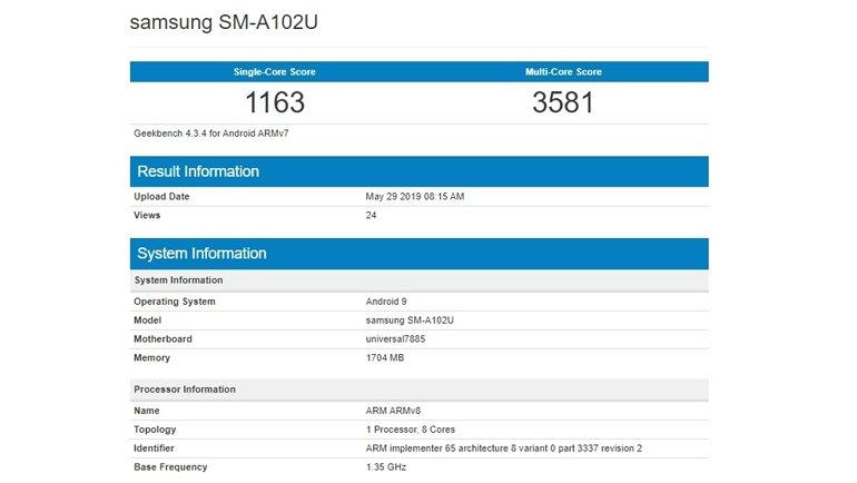 Samsung Galaxy A10e Sızdı