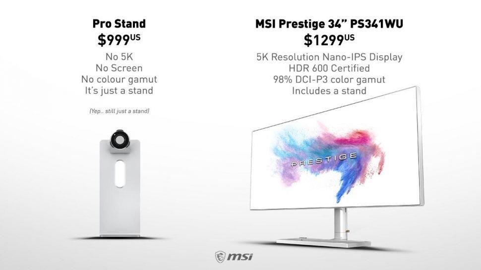 MSI'dan Apple Pro Stand Fiyatına 5K Monitör