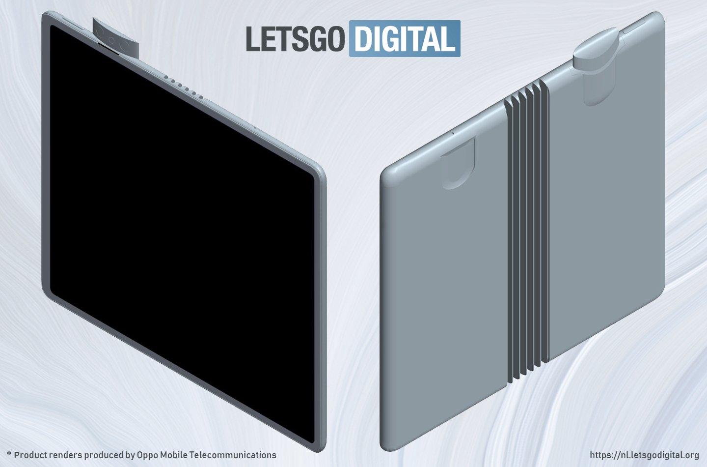 Oppo'nun Katlanabilen Telefon Çizimleri Göründü