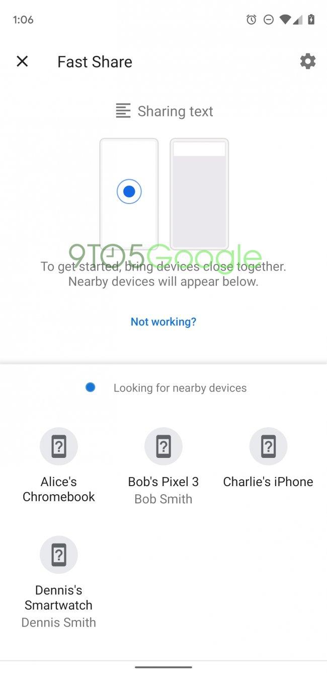 Android'in Yeni Paylaşım İşlevi Fast Share Geliyor