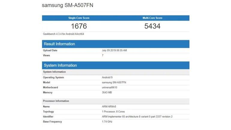 Galaxy A50s Benchmark Sonuçları Ortaya Çıktı