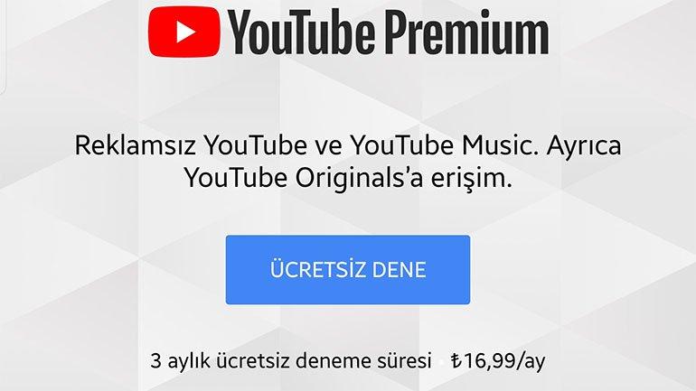 YouTube Premium ve Music Türkiye'ye Açıldı
