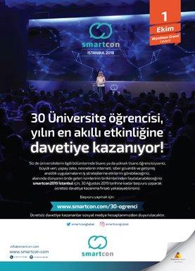 smartcon2019 30 Üniversite Öğrencisine Ücretsiz