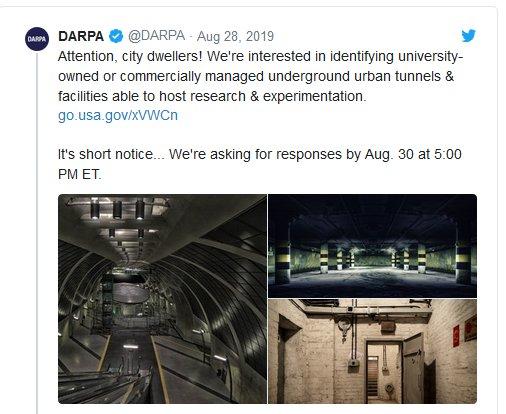 """DARPA'dan Gizemli """"Yeraltı Tüneli"""" İsteği!"""