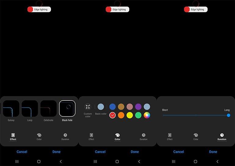 """Galaxy Note 10'a """"LED Efekti"""" Geldi"""