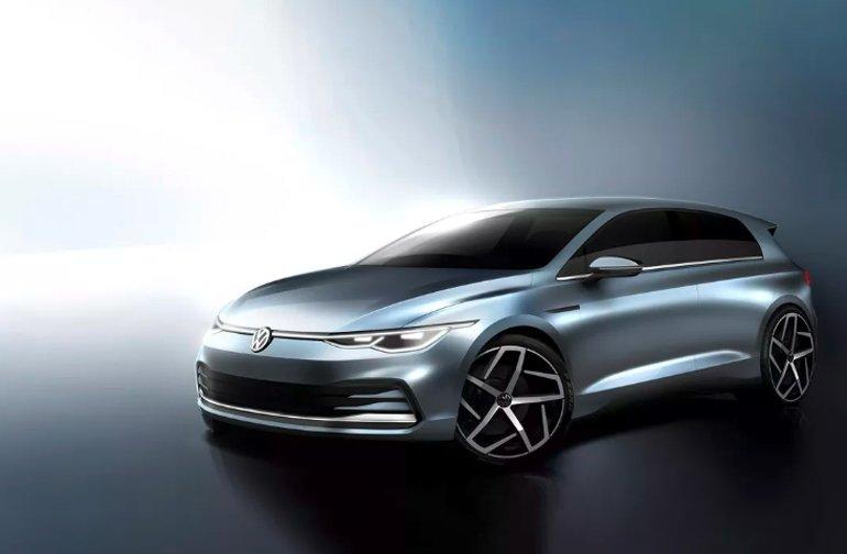 Yeni Volkswagen Golf'ün eskizleri gösterildi