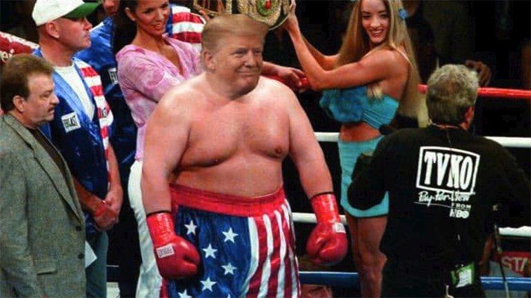 Rocky Balboa Vücutlu Trump, Eğlence Konusu Oldu