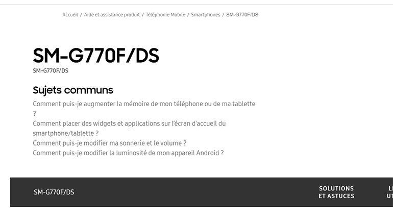 Samsung Galaxy S10 Lite, Samsung Sayfasında Göründü